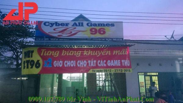 Thiết Kế Lắp Đặt Phòng Net LT 96 - CYBER ALL GAME  96 GAMING Lái Thiêu, Thuận An - BÌNH DƯƠNG