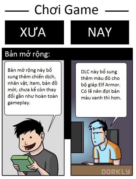 Game thủ ngày xưa và ngày nay