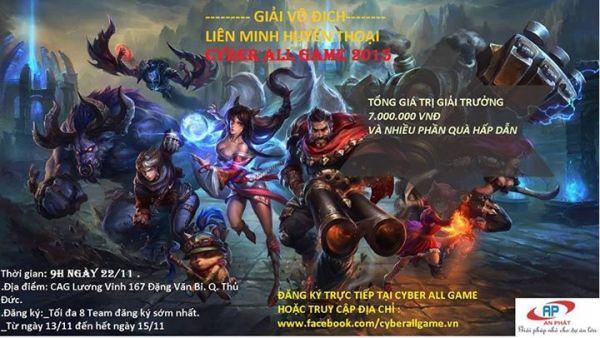 Cyber All Game Giải Đấu Tri Ân Hội Viên Nhằm 20-11-2015